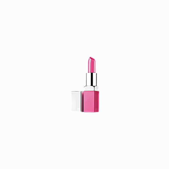 Shiny pink lipstick