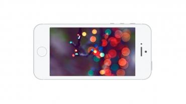 Slider in Flat Landscape Smartphone